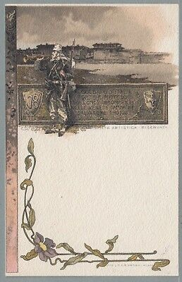 C. 1902 Italy Military Pc 78Th Infantry Regiment Nice Post Card
