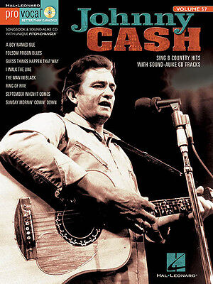 Johnny Cash Pro Vocal Men Vol 57 Sheet Music Sing-Along Country Song Book CD NEW