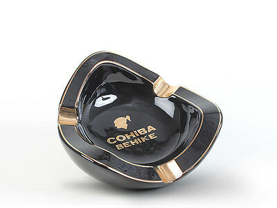 Rare Cohiba Black Fine Porcelain Ashtray Very Limited Production Made In Spain