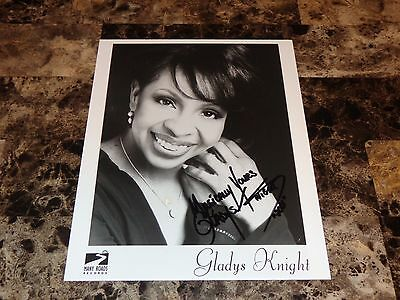 Gladys Knight & The Pips Rare Authentic Hand Signed Promo Photo Motown Legend !