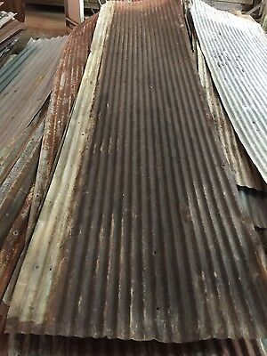 Antique Reclaimed Rusty Metal Roof Panels SMALL Corrugated $1 Per Square Foot