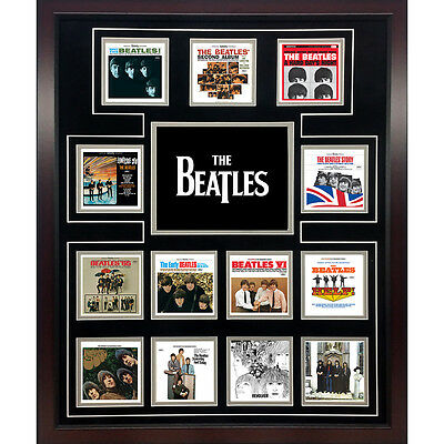The BEATLES U.S. United States 20X24 Album Discography Framed Collage NEW!