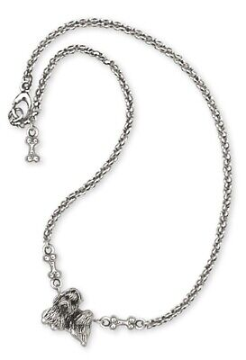 Lhasa Apso Ankle Bracelet Handmade Sterling Silver Dog Jewelry SZ13-A