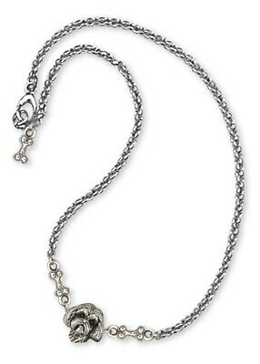 Lhasa Apso Ankle Bracelet Handmade Sterling Silver Dog Jewelry LSZ8-A