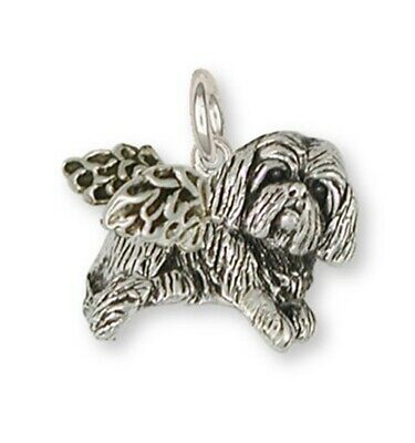 Lhasa Apso Charm Handmade Sterling Silver Dog Jewelry LSZ17-AC
