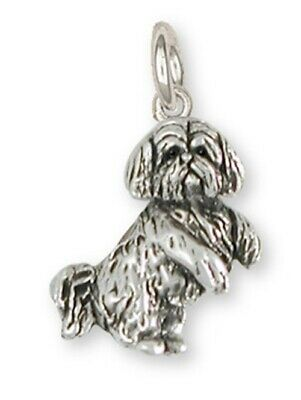 Lhasa Apso Charm Handmade Sterling Silver Dog Jewelry LSZ20-C