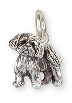 Lhasa Apso Charm Handmade Sterling Silver Dog Jewelry LSZ25S-C