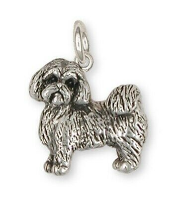 Lhasa Apso Charm Handmade Sterling Silver Dog Jewelry LSZ8-C