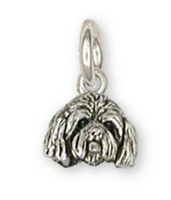 Lhasa Apso Charm Handmade Sterling Silver Dog Jewelry SZ18-HC