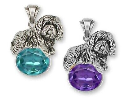Lhasa Apso Pendant Handmade Sterling Silver Dog Jewelry LSZ17-SP