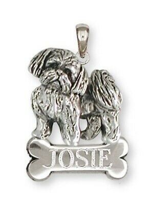 Lhasa Apso Pendant Handmade Sterling Silver Dog Jewelry LSZ21-NP