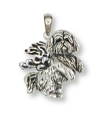 Lhasa Apso Pendant Handmade Sterling Silver Dog Jewelry LSZ20-AP