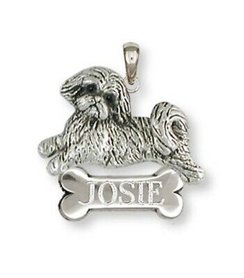 Lhasa Apso Personalized Pendant Handmade Sterling Silver Dog Jewelry LSZ22-NP
