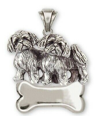 Lhasa Apso Personalized Pendant Handmade Sterling Silver Dog Jewelry LSZ24-NP