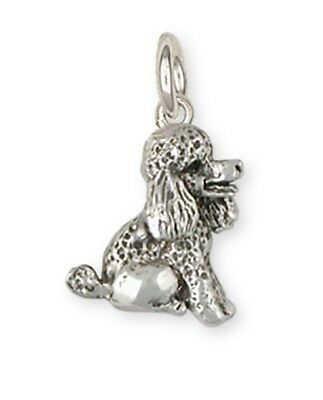 Sterling Silver Poodle Charms Jewelry - pd10c