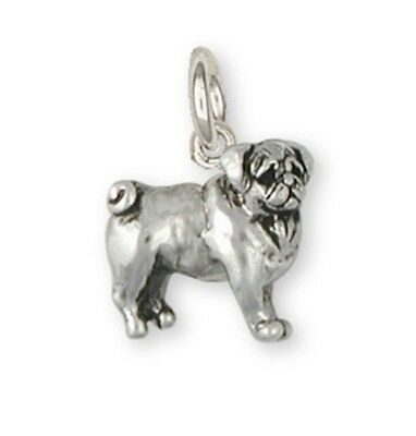 Pug Dog Charm Jewelry Handmade Sterling Silver PG14-C