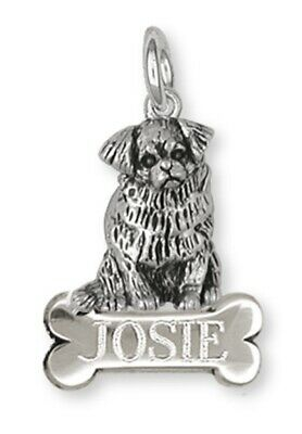 Tibetan Spaniel Personalized Pendant Handmade Sterling Silver Dog Jewelry TS3-NC