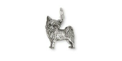 Long Hair Chihuahua Charm Jewelry Sterling Silver Long Hair Chihuahua Charms And
