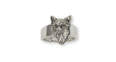 Long Hair Chihuahua Ring Jewelry Sterling Silver Long Hair Chihuahua Charms And