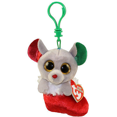 TY Holiday Baby - BUNDLES the Mouse (2016) (key clip - 3.5 inch) - MWMTs