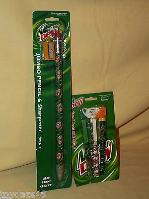 Mountain Dew Pencil Sharpener Pen Jumbo New Lot Ball Cord Scented PepsiCo Do The