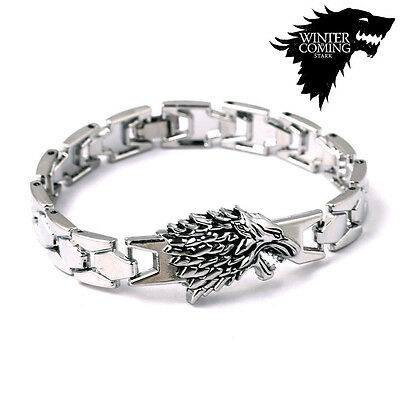 Game of Thrones House Stark Metal Wristband Charms Bracelet Bangles Wholesale
