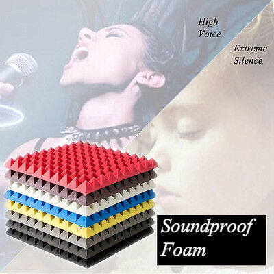 New 12x12x2″ Soundproof Acoustic Foam Sound Absorption Treatment Proofing Panel