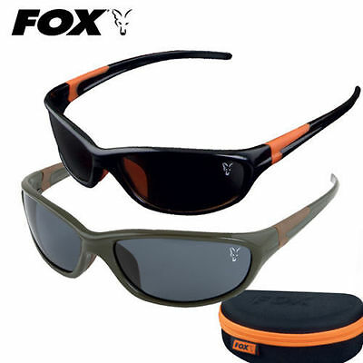 NEW Fox XT4 Polarised Fishing Sunglasses - Green & Brown Frame / Brown Lens