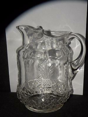 Vintage Heisey Pineapple Plantation Pitcher With Ice Lip