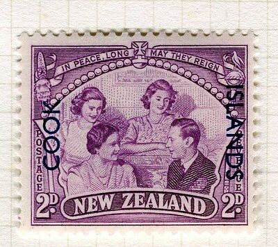 COOK ISLANDS;  1946 Peace/Victory issue Mint hinged 2d. value