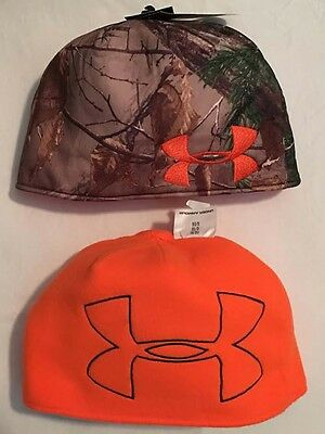 6bf1cf743 2) HOT SHOT Men's Reversible Hunting Camo Beanie / Blaze Orange ...
