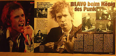 3 german clipping SEX PISTOLS JOHNNY ROTTEN N. SHIRTLESS ROCK PUNK BOYS BAND BOY