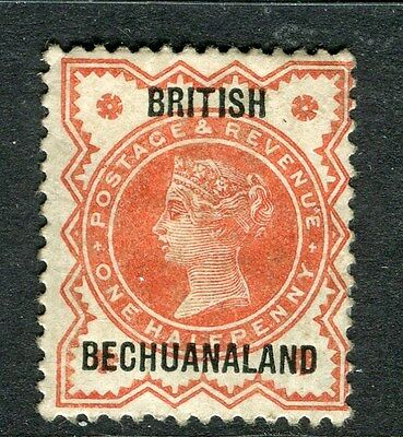 BECHUANALAND;  1890s QV British Bechuanaland Optd. fine Mint hinged 1/2d. value