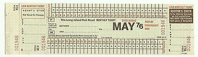 Long Island Rail Road (LIRR) monthly ticket, 1976