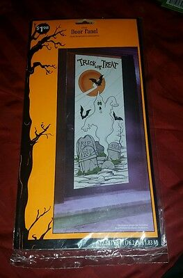 "Halloween 30"" X 72"" Door Panel Cover Decor Decoration New Nip Trick Or Treet"