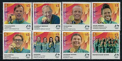 2016 Rio Olympic Games - Complete Set of the 8 Australian Gold Medal Winners