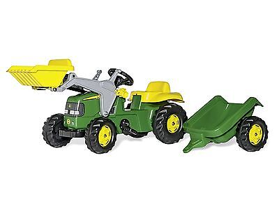 John Deere Ride On Tractor With Loader and Detachable Trailer New