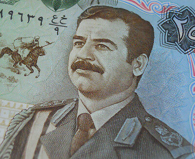 SADDAM HUSSEIN Banknote 1986 IRAQ Paper Money 25 DINAR Middle East History