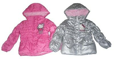 Girls Coats Padded Jacket Hello Kitty Hooded