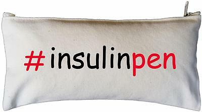# Insulin Pen  - Natural Cotton Zip Case - SUPPLIED EMPTY