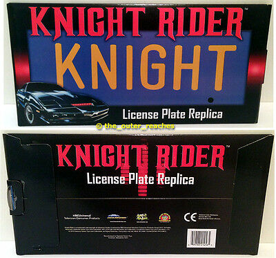 OFFICIAL Diamond Select KNIGHT RIDER 1:1 Scale KITT Car License Plate Replica