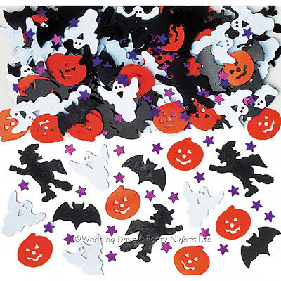 Halloween Table Confetti Pumpkin Ghost Witch Bats Party Sprinkles Decorations