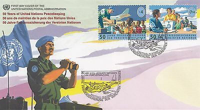 (91300) UN United Nations FDC Peacekeeping 50 years - Vienna 15 September 1998