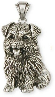 Personalized Sterling Silver Norfolk Terrier Pendant Jewelry  NF6-P