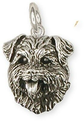 Sterling Silver Norfolk Terrier Charm Jewelry  NF7-C