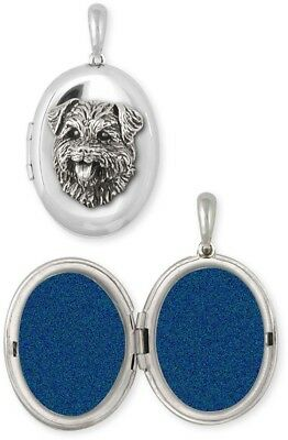 Personalized Sterling Silver Norfolk Terrier Photo Locket Jewelry  NF7-V