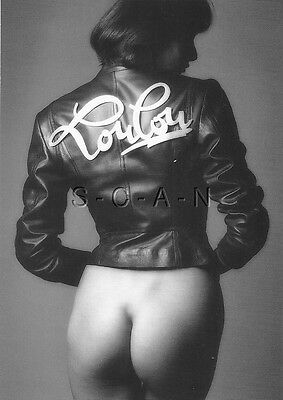Original French Semi Nude Pinup Card- Woman in Leather Jacket- Butt- Paris 1987