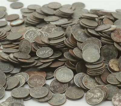 1943 Steel Cents Rusty, Discolored, Ugly – ONE POUND CS1423