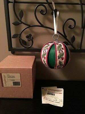Longaberger 2012 Christmas Ornament (Ball) NEW in Box! - USA
