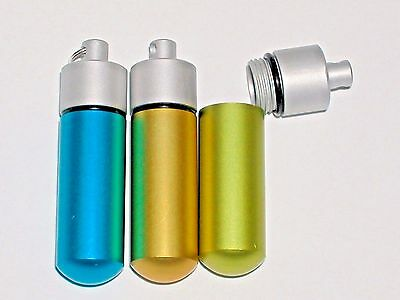 3pc.Pill Medicine Mix bullet pendant tube bottles container screw top keychain